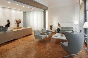 Empfang der Zahnarztpraxis in Hamburg
